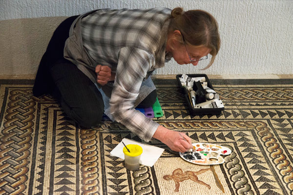 Restauration d'une mosaïque