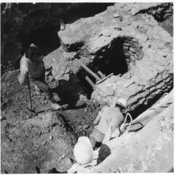 Mise au jour d'une pompe romaine