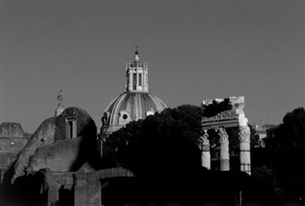 Rome, vue du forum romain