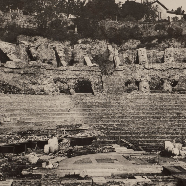 The theater during excavation, ca. 1934